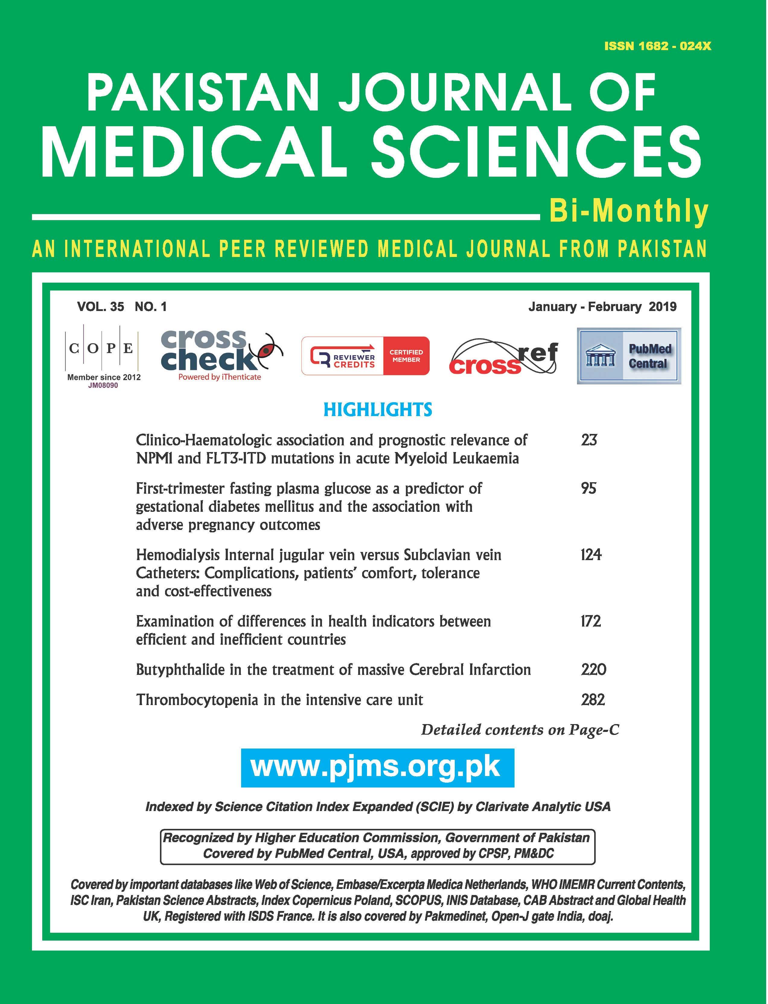 PJMS 2019 Vol. 35 Issue 1